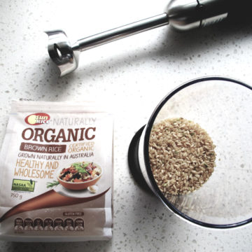 Homemade Baby Organic Brown Rice Cereal